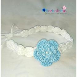 Diadema Blanca-Azul