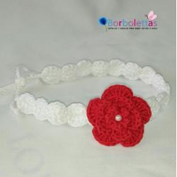 Diadema Blanca-Roja