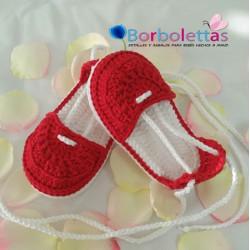 Alpargatas Blanco y Rojo
