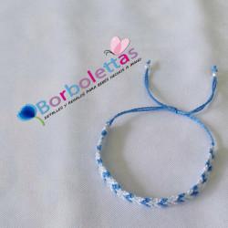 Pulsera de Macramé Azul